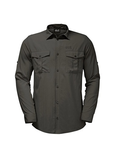 Jack Wolfskin Jack Wolfskin 1402431-5100 Atacama Roll-Up Shirt Gömlek Haki